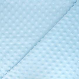 Soft relief minkee velvet Fabric - Sky dots x 10cm