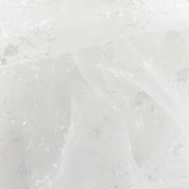 Tissu Dentelle Fleurette blanche x 10cm