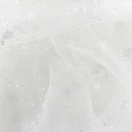 Tissu Dentelle Fleurette x 10cm