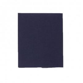 Pièce thermocollante 39 x 12 cm - bleu nuit