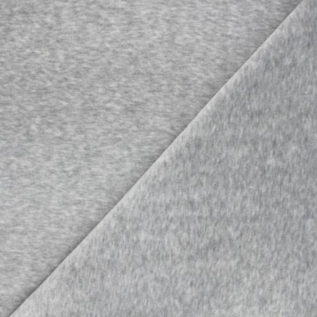 Terry-cloth jersey fabric - grey x 10cm