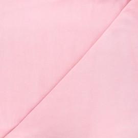 Tissu jersey velours éponge - rose x10cm