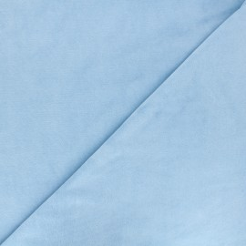 Terry-cloth jersey fabric - sky blue x 10cm