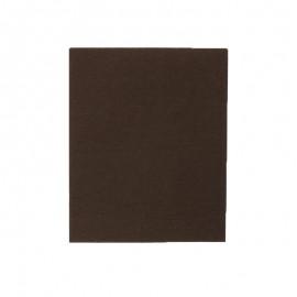 Pièce thermocollante 39 x 12 cm - marron