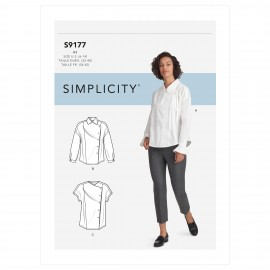 Asymmetric shirt sewing Pattern for Woman - Simplicity n°S9177