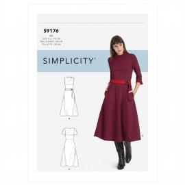 Patron Robe évasée Femme - Simplicity n°S9176