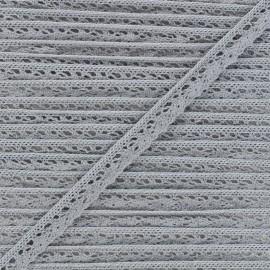 15mm Elastic lace ribbon - grey Romance x 1m