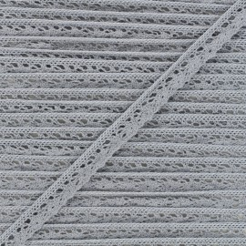 Dentelle élastique Romance 15 mm - gris x 1m