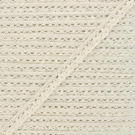 15mm Elastic lace ribbon - raw Romance x 1m