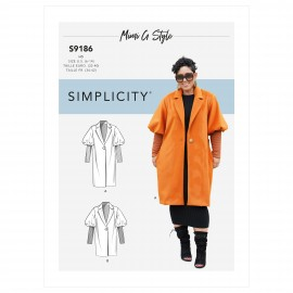 Coat sewing Pattern for Woman - Simplicity n°S9186