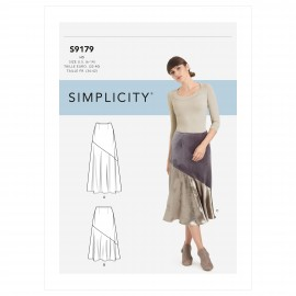 Asymmetric skirt sewing Pattern for Woman - Simplicity n°S9179