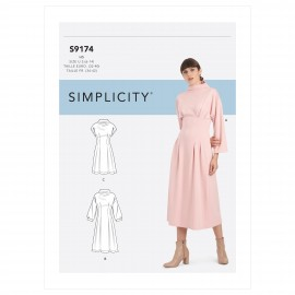 Funnel neck dress sewing Pattern for Woman - Simplicity n°S9174