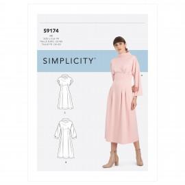 Patron Robe col cheminée Femme - Simplicity n°S9174