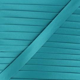 20 mm satin bias binding - Acapulco blue x 1m