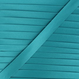 Biais satin 20 mm - bleu acapulco x 1m