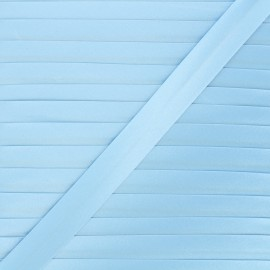 20 mm satin bias binding - pastel blue x 1m