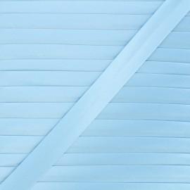 Biais satin 20 mm - bleu pastel x 1m