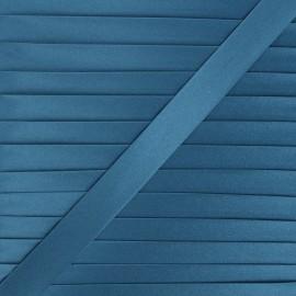 20 mm satin bias binding - denim blue x 1m