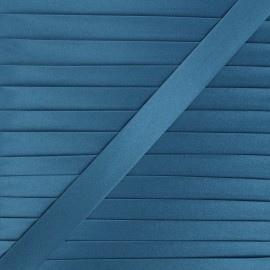 Biais satin 20 mm - bleu denim x 1m