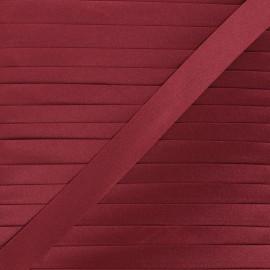 20 mm satin bias binding - burgundy x 1m