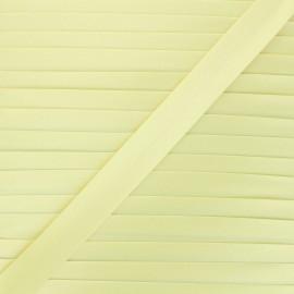 20 mm satin bias binding - pastel yellow x 1m