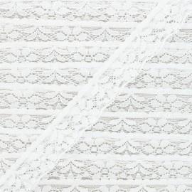 Ruban dentelle élastique 26 mm - blanc x 1m
