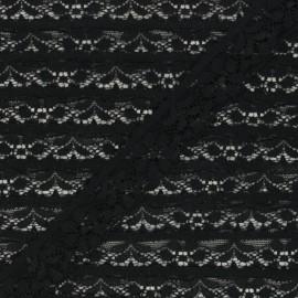 Ruban dentelle élastique 26 mm - noir x 1m