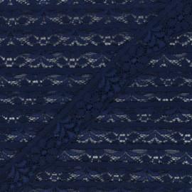 26 mm elastic lace ribbon - navy x 1m
