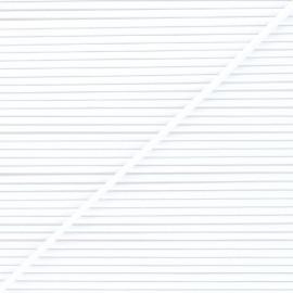 Fil élastique rond 3 mm blanc