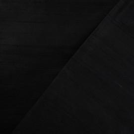Tissu soie sauvage noir x 10cm
