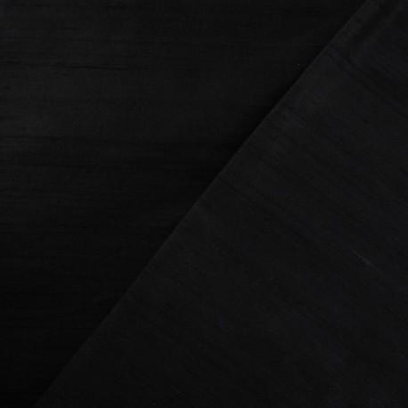 Wild Silk Fabric - Black x 10cm