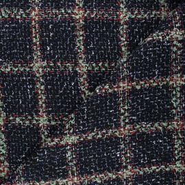 Lurex tweed fabric - midnight blue Elisabeth x 10cm
