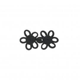 Duffle coat toggle - black Flowery