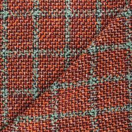 Tissu tweed lurex Elisabeth - orange x 10cm
