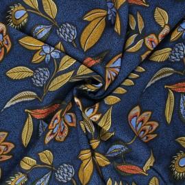 Viscose fabric - navy blue Dalilah x 10cm