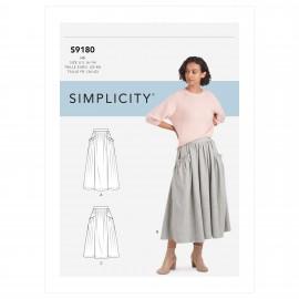 Patron Jupe plissée Femme - Simplicity n°S9180