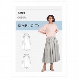 Pleated skirt sewing Pattern for Woman - Simplicity n°S9180