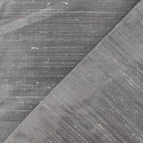 Wild Silk Fabric - silver x 10cm