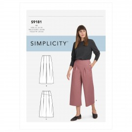 Pleated pants sewing Pattern for Woman - Simplicity n°S9181