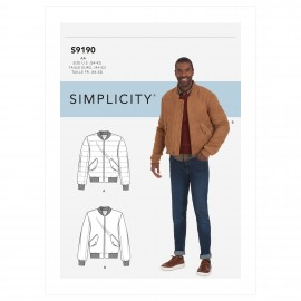 Bombers vest sewing Pattern for Man - Simplicity n°S9190