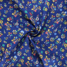 Tissu batiste de coton Dashwood Studio Kaleidoscope - Flower festival bleu x 10cm