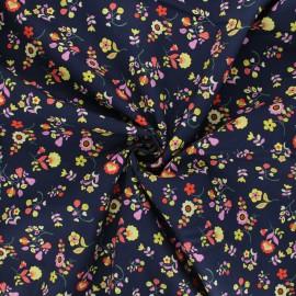 Tissu batiste de coton Dashwood Studio Kaleidoscope - Flower festival marine x 10cm