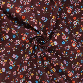 Tissu batiste de coton Dashwood Studio Kaleidoscope - Flower festival marron x 10cm