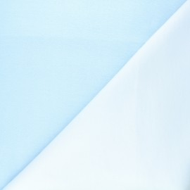Summer/winter double-sided baby undersheet fabric - blue x 10cm