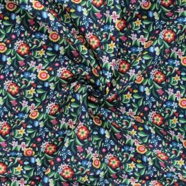 Tissu batiste de coton Dashwood Studio Kaleidoscope - Floral marine x 10cm