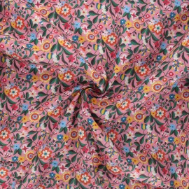 Tissu batiste de coton Dashwood Studio Kaleidoscope - Floral rose x 10cm