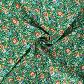Tissu batiste de coton Dashwood Studio Kaleidoscope - Floral vert x 10cm