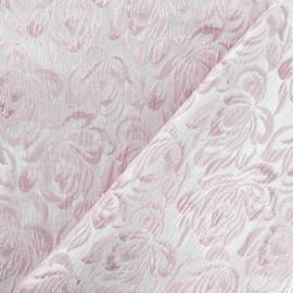 Tissu Damassé Alizé rose x 10cm