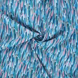 Tissu batiste de coton Dashwood Studio Kaleidoscope - Groovy bleu x 10cm