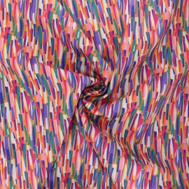 Tissu batiste de coton Dashwood Studio Kaleidoscope - Groovy rose x 10cm